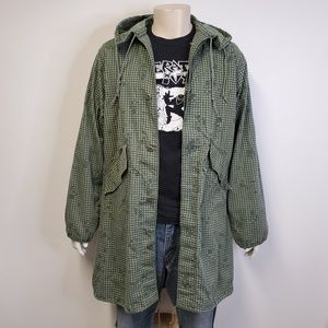 Vtg 90s US MILITARY Fishtail Parka Night Camo